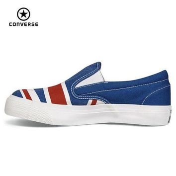 VONR3I Original Converse all star shoes low sneakers United States and Britain's flag canvas
