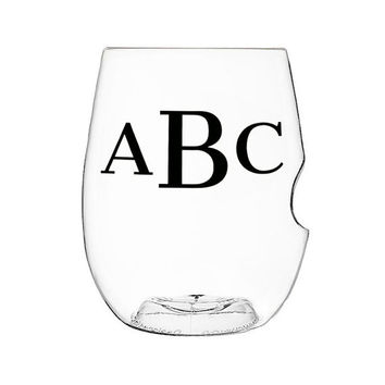 Personalized Stemless Shatterproof Wine Glass
