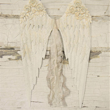 Angel Wings Wall Decor, Angel Wings Wall Art, White Angel Wings, Angel Wings Sculpture, Angel Wings Decor, Angel Wings Art, Nordic Decor