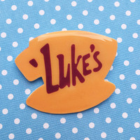 "Handmade ""Luke's Diner"" Gilmore Girls Luke's Coffee Mug Brooch"
