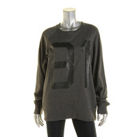 Guess Womens Heathered Crew Sweatshirt