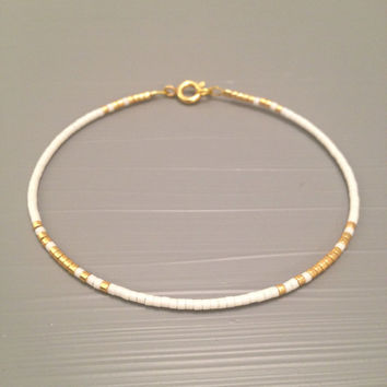 Delicate Beaded Bracelet Will you be my bridesmaid Bridesmaids Gifts Gold Filled Bracelet