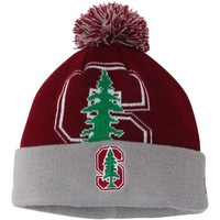 Stanford Cardinal New Era Woven Biggie Knit Hat - Cardinal