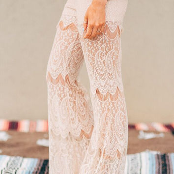 Laced From Top to Toe Pants