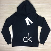 Calvin Klein Women's Fashion Hooded Top Sweater Pullover Hoodie