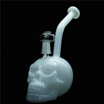 Newest 2 functions Authentic Skull bong with bowl and dome Oil Rigs Glass Water Bongs for Smoking Ash Catcher Pipes Hookah Bong free shippin