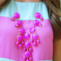 The Fuchsia Crew Necklace | Hope's