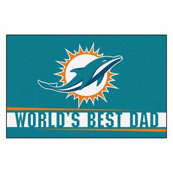 FANMATS Miami Dolphins World's Best Dad Starter Mat Rug