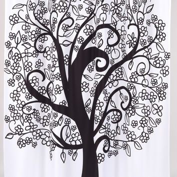 Carnation Home Fashions Tree of Life Polyester Shower Curtain