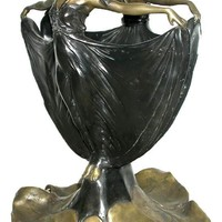 Two Ladies Forming a Flower Vase Large, Lost Wax Bronze Metal