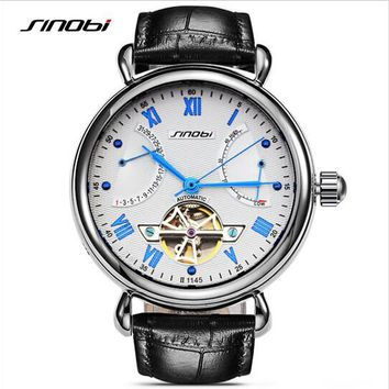 SINOBI Skeleton Watch Luxury Sapphire Men's Watches