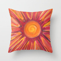 Sunshine Throw Pillow by gretzky | Society6