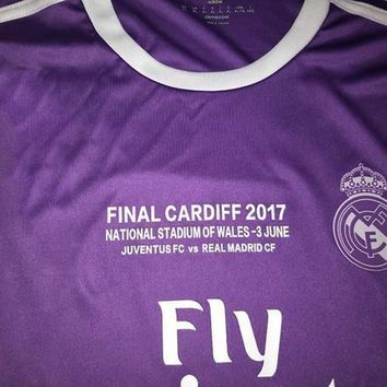 2017 Champions League Finals Soccer Jersey 16/17 Real Madrid away Purple Soccer Jersey