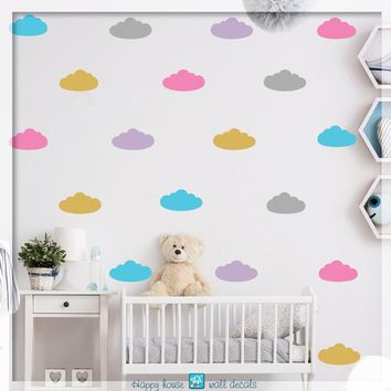 Cloud wall decals - Clouds sticker - Nursery wall decal - Clouds decor - Bedroom Nursery decor