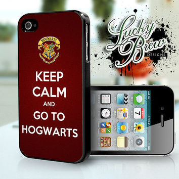 iPhone 4 4s Hard Case - Harry Potter Keep Calm Go To Hogwarts - Phone Cover