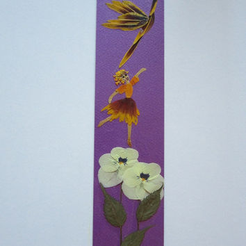 Handmade unique bookmark quot wait for me we ll fly together quot decorated