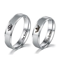 Couple Ring King & Queen You Are My King You Are My Queen Black And White Love You Confession Wedding Anniversary Gift Jewelry