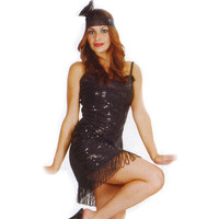 FREE SHIPPING Flapper costume  Adult  women Costume fancy dress sexy dress S,M,L,XL,2XL