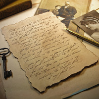 Old fashioned writing paper