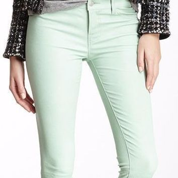 New with Tag - J Brand Stretch Leather Mint Skinny Women's Leggings