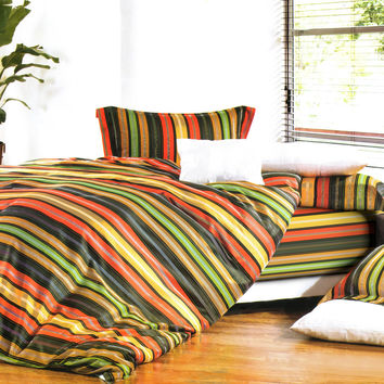 Colorful Stripe Luxury 4PC Comforter Set Combo 300GSM in Twin Size