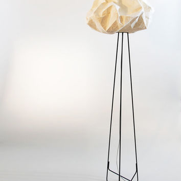 Origami floor lamp, White and black lighting, fabric lamp, 70.8X19.5X19.5 inch, 180X50X50 cm, Home decor accessory