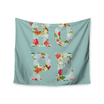 "Suzanne Carter ""Hope"" Green Floral Wall Tapestry"