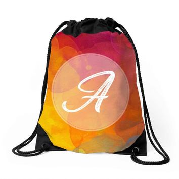 letter a  initial Drawstring Bags