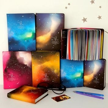 Color Pages Notebook Star Sky Planner Diary Book Korea Stationery School Supplies