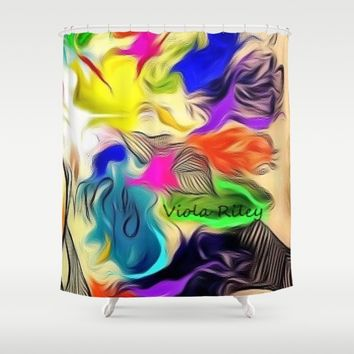 FALL LEAVES Shower Curtain by violajohnsonriley