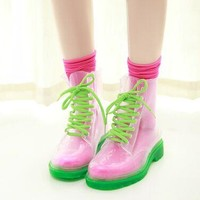 Transparent HighTop Rain Boots
