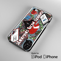 sleeping with sirens A1367 iPhone 4S 5S 5C 6 6Plus, iPod 4 5, LG G2 G3, Sony Z2 Case
