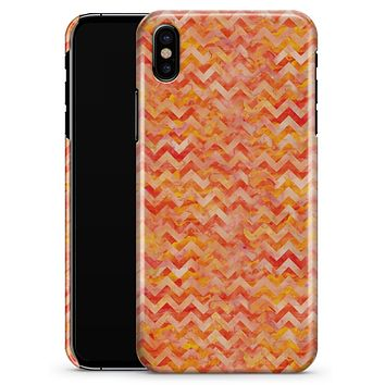 Orange Basic Watercolor Chevron Pattern - iPhone X Clipit Case