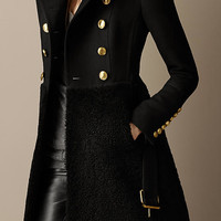 Shearling Skirt Fitted Coat