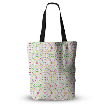 "Empire Ruhl ""Neon Triangles"" Pink Green Everything Tote Bag"