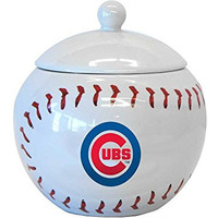 MLB Licensed Chicago Cubs Ceramic Game Time Jar Candy Dish