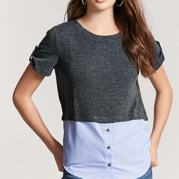 Heathered Combo Top