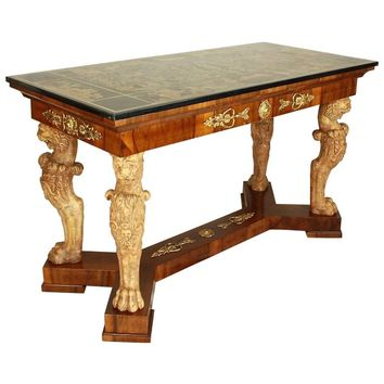 North Italian Center Table with Scagliola Top, dated 1721