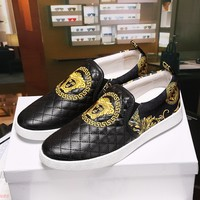 Versace Palazzo Slip On Sneakers Dsu6751 - Best Online Sale
