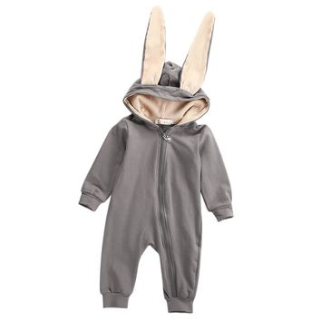 Kids Infant Baby Girl Boy Clothes Long Ear Bunny Romper Lovely Jumpsuit Playsuit Outfit Lovely Costume