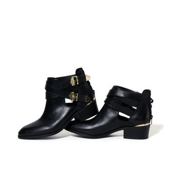 Seychelles 'Scoundrel' Cut-Out Buckled Booties