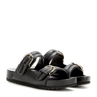 Moro embossed leather sandals