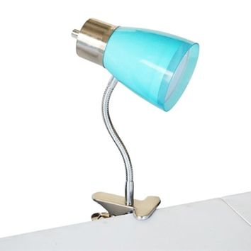 Aglow Dorm Clip Lamp - Aqua Supplies For College Cheap Dorm Stuff Items For College Students