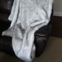 Large Faux Fur Throw Blanket