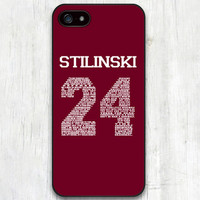 Teen Wolf Stiles Stilinski Dylan O'Brien Lacrosse Jersey Number #24 Protective Phone Case Cover for iPhone 6 5s 5c 5 4s 4