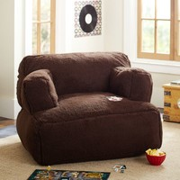 Chocolate Sherpa Eco Lounger