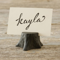 Porcelain Forest Place Card Holder