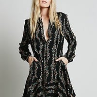 Free People Womens Buttondown Shirt Dress