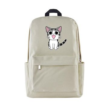 Anime Backpack School Cartoon kawaii cute Chi's Sweet Home Backpack Chi Cute Cat Printing Nylon Shoulder Bag Middle School Student Schoolbags Kids Gift NH AT_60_4