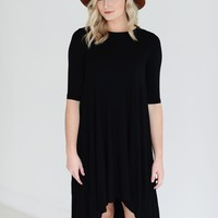 Black PIKO High-Low Dress